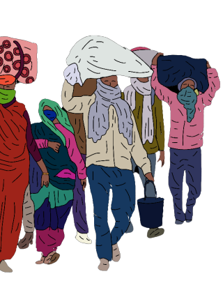 Migrant Laborers: A Walk Back Home...