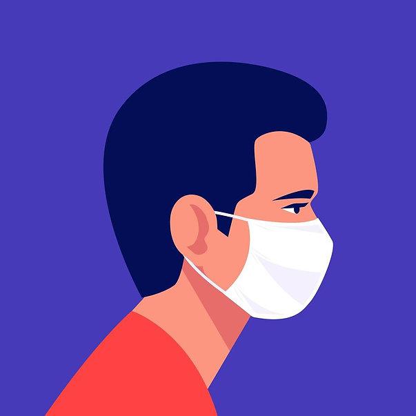 man-wearing-disposable-medical-face-mask