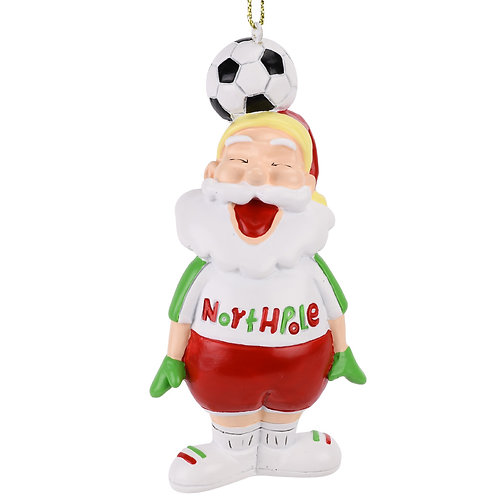 Soccer Santa Sports Christmas Ornament