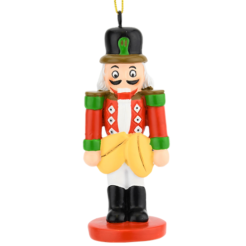Funny Happy Nutcracker with Nuts Christmas Ornaments