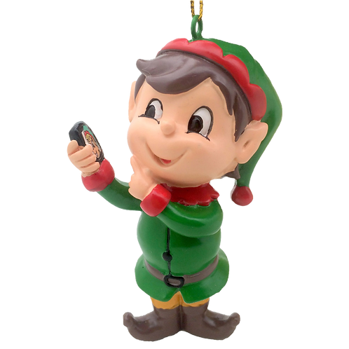 Elfie Selfie™ Christmas Ornament