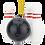 Thumbnail: Bowling Ball and Pins Christmas Ornaments