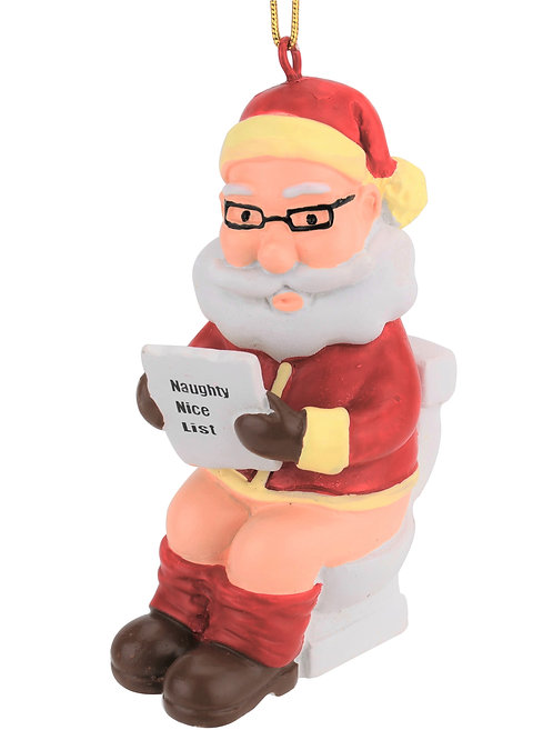 Santa On The Throne Christmas Ornament