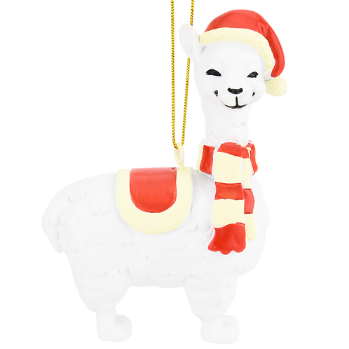Xmas Llama Animal Christmas Ornaments