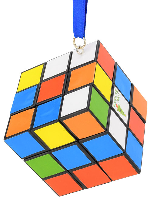 Colored Puzzle Cube Christmas Ornament
