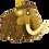 Thumbnail: Woolly Mammoth Dinosaur Christmas Ornament