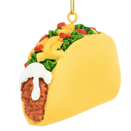 Taco Food Christmas Ornament