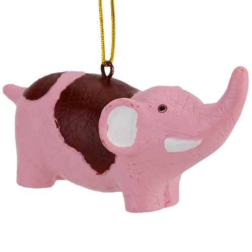 Bloody Pink Elephant Stuffed Animal Christmas Ornament