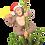 "Thumbnail: King Kong Climbing The Tree Funny Christmas Tree Topper - Large 10"""