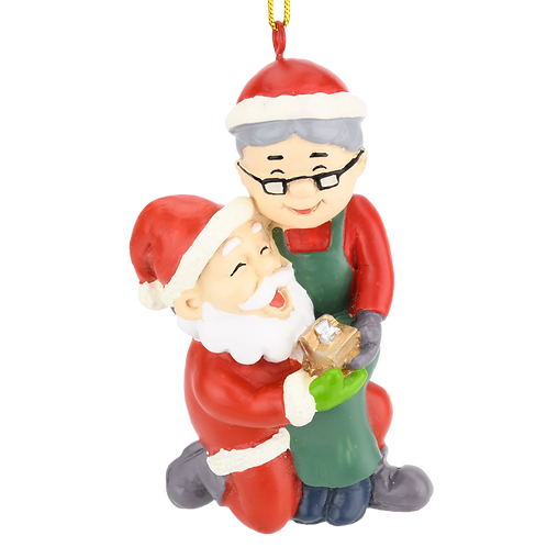 I Do! Santa Proposing Resin Christmas Ornament
