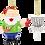 Thumbnail: Santa Frisbee Disc Golf Christmas Ornament 2 Piece Set