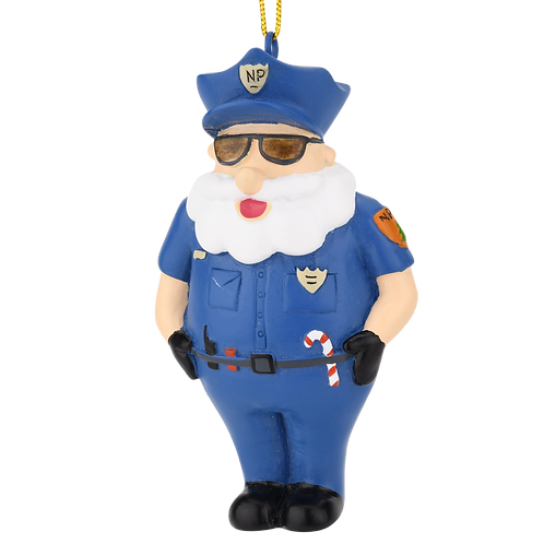 North Pole Police Department Resin Christmas Ornament