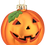 Thumbnail: Pumpkin Glass Bulb Jack-o'-lantern Halloween Ornament