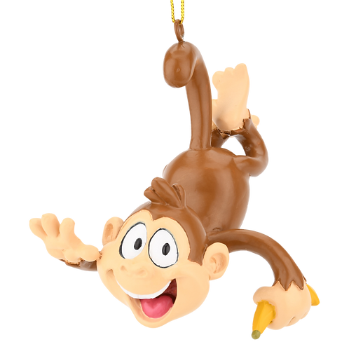 Monkey Business Funny Christmas Ornament