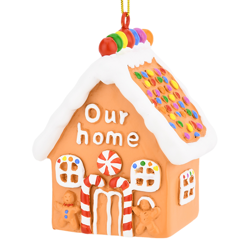 Cute Our Home Gingerbread House Christmas Ornament