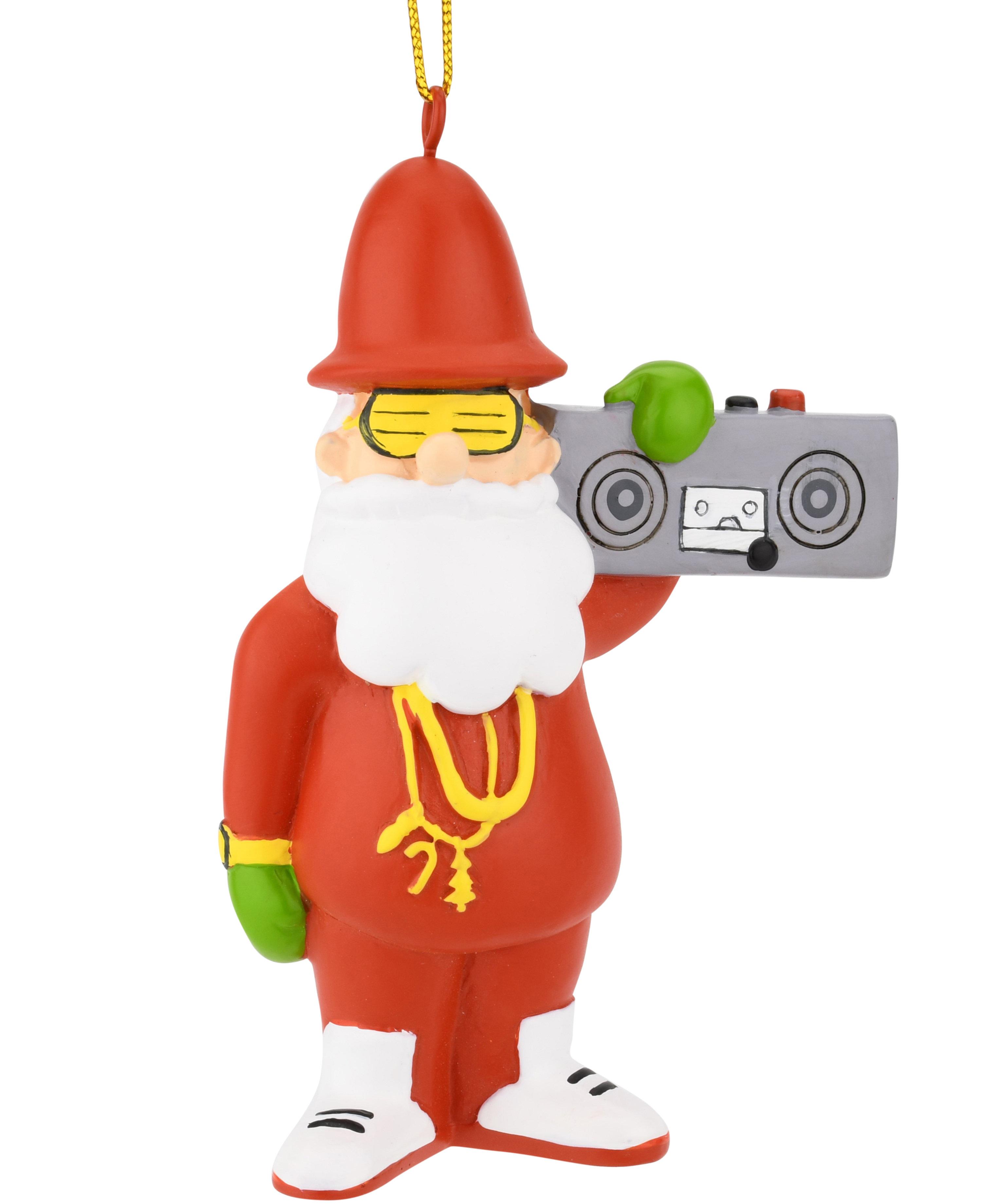 Christmas Rap Music.80 S Hip Hop Santa Resin Christmas Ornament Tree Buddees