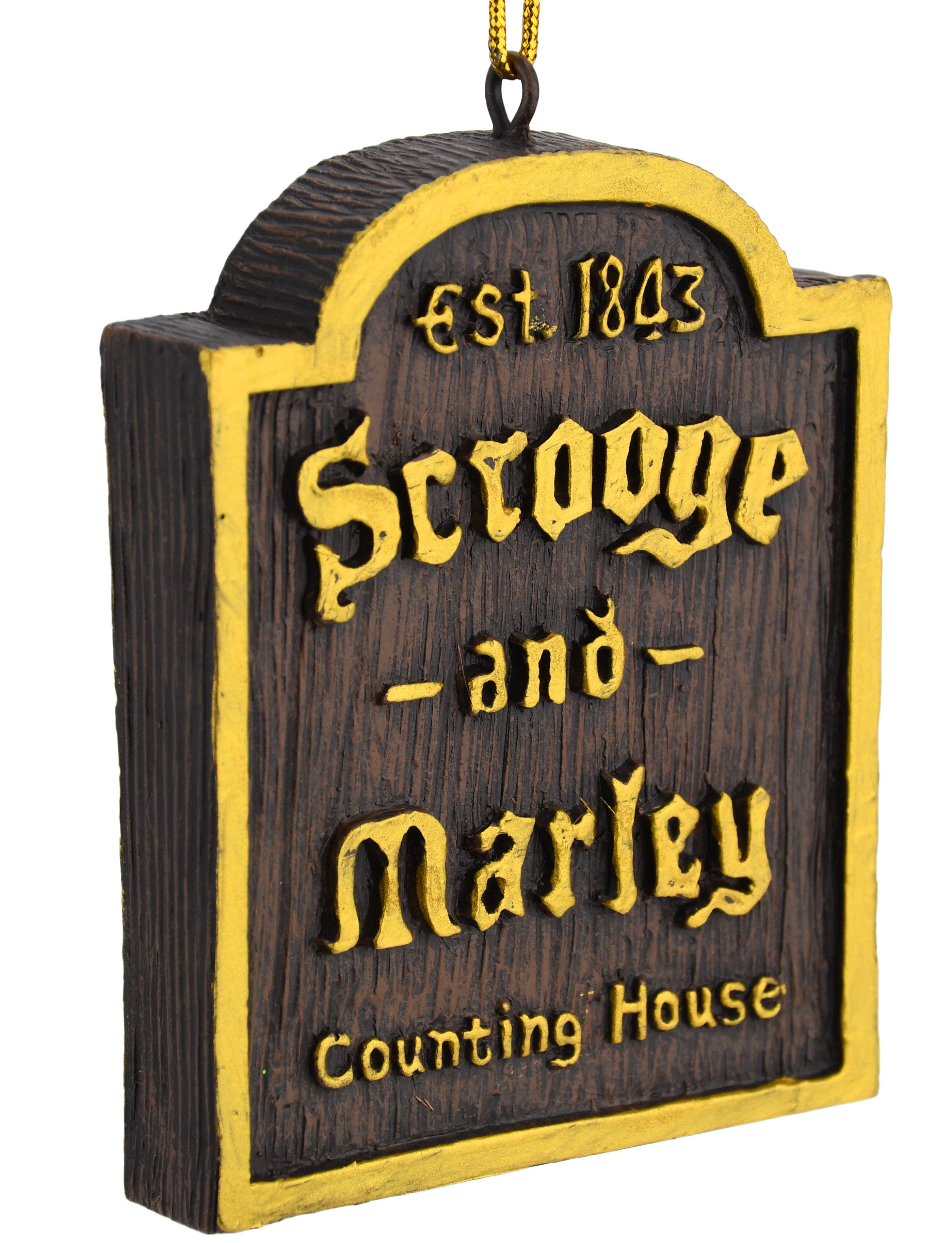A Christmas Carol Scrooge And Marley.A Christmas Carol Scrooge Marley Counting House Sign Ornament Tree Buddees