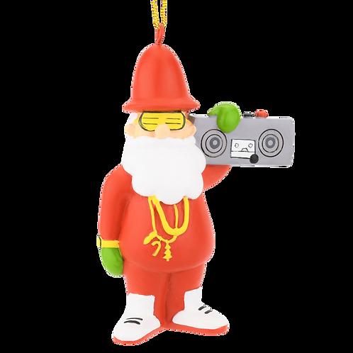 80's Hip Hop Santa Resin Christmas Ornament