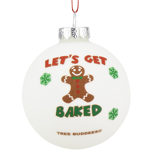 Let's Get Baked Gingerbread Man Glass Christmas Ornament