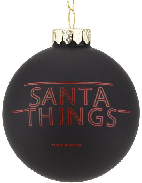 Santa Things Glass Christmas ornament