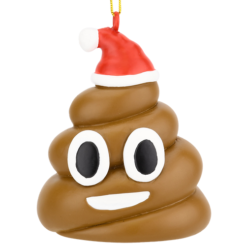 Poopy Christmas Funny Poop Ornament