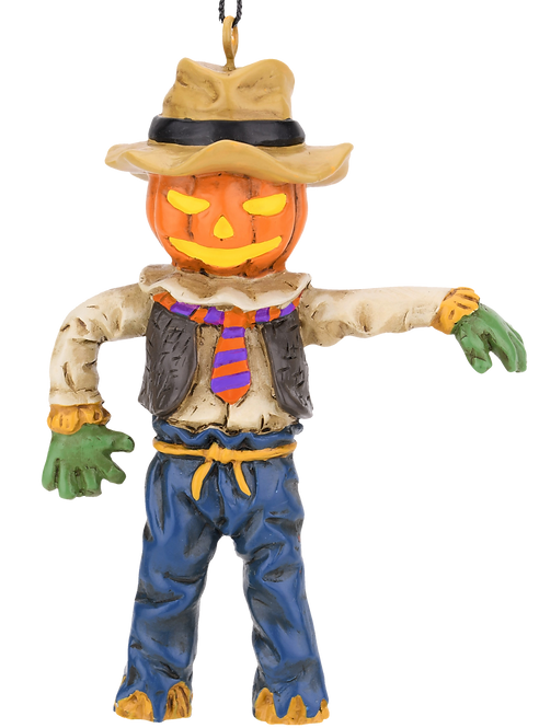 Pumpkin Head Scarecrow Halloween Ornament
