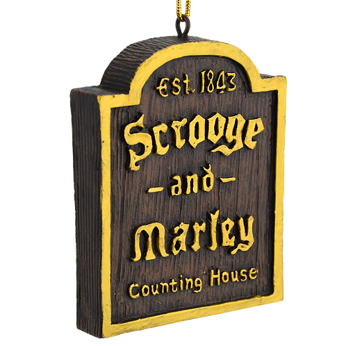 A Christmas Carol Scrooge & Marley Counting House Sign Ornament