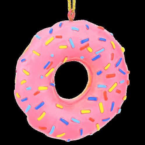 Pink Donut Dessert Food Christmas Ornament