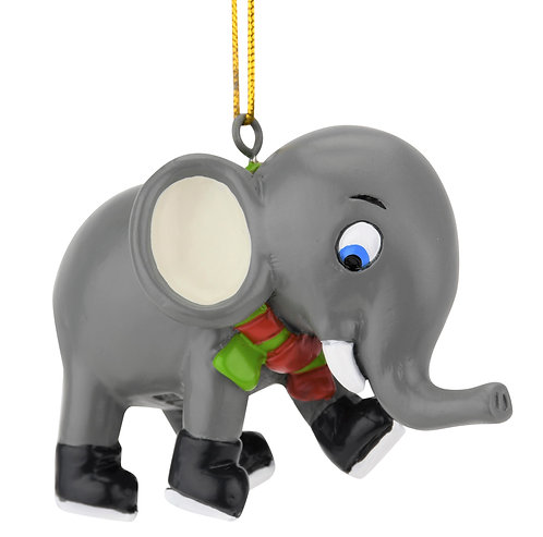 Learning to Skate Cute Elephant Ice Skating Christmas Ornament