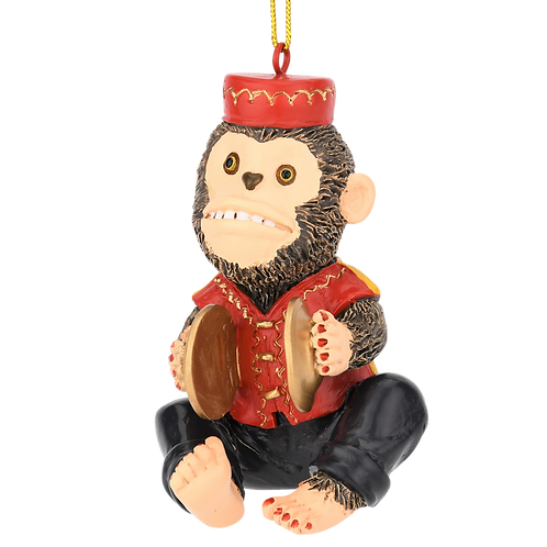 Cymbals Monkey Unique Retro Toy Christmas Ornaments