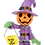Thumbnail: Trick or Treating Pumpkin Man Halloween Ornaments
