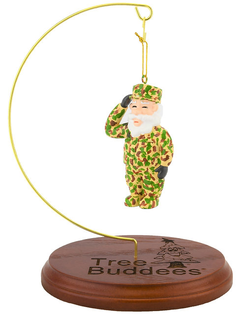 NEW! Tree Buddees Wooden Ornament Display Stand