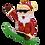 Thumbnail: Snowboarding Santa Claus Christmas Ornament