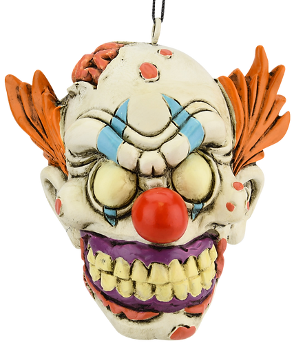 Creepy Zombie Clown Halloween Ornament