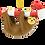 Thumbnail: Candy Cane Sloth Animal Christmas Ornaments