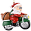 Thumbnail: Biker Santa Claus Motorcycle Christmas Tree Ornament