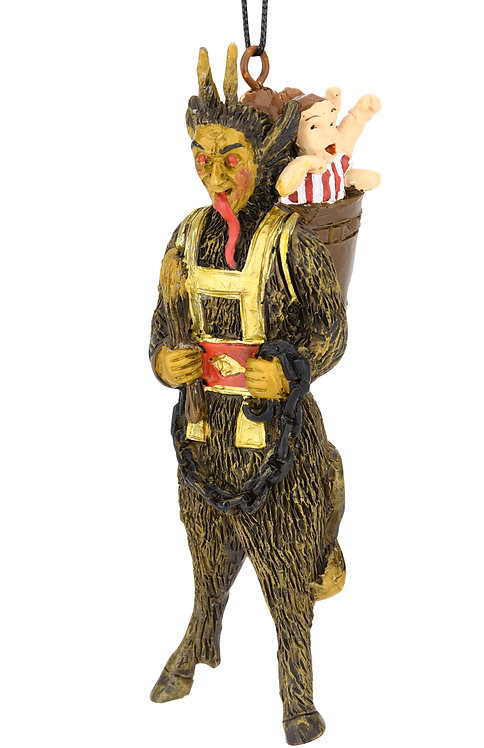 Scary Krampus Figure Christmas Ornament