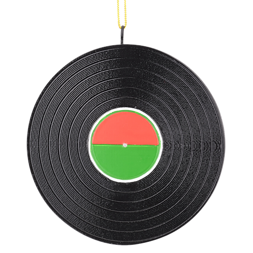 Personalizable Record Turntable Music Christmas Ornament