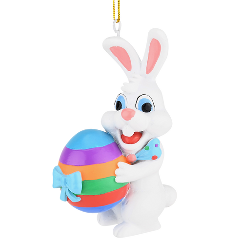Easter Bunny Gifting an Easter Egg ornament