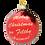 Thumbnail: Merry Christmas Ya Filthy Animal ® Glass Christmas Ornament