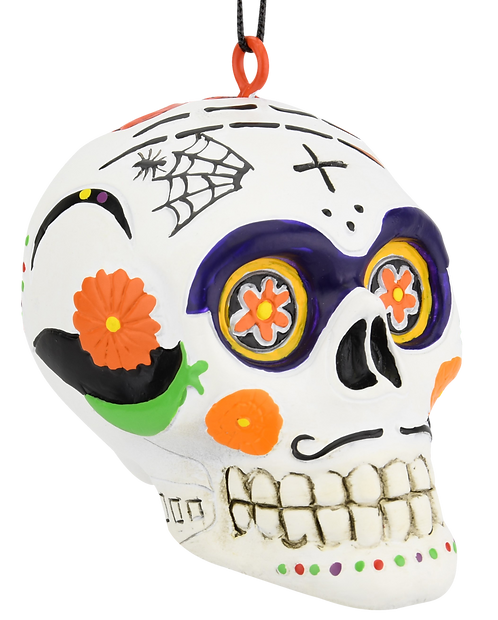 Day of The Dead Sugar Skull Halloween / Christmas Ornament