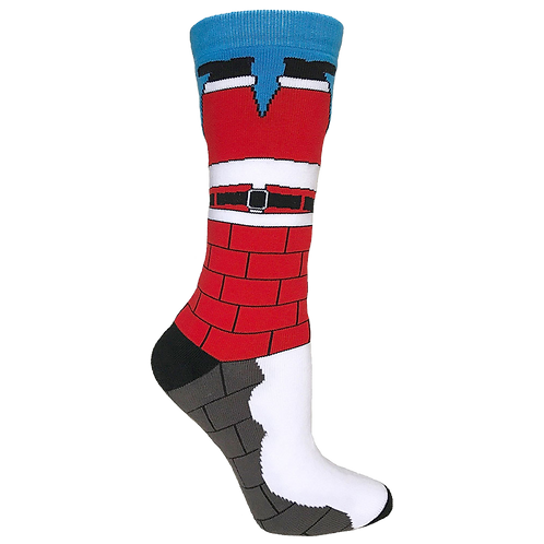 Unisex Adult - Santa Stuck In The Chimney Funny Christmas Socks