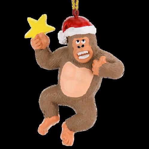 King Kong Climbing The Tree Large Christmas Ornament