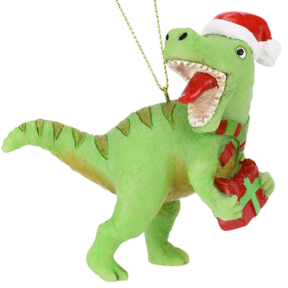 Christmas Dinosaur.Xmas Rex Christmas T Rex Dinosaur Ornament Tree Buddees