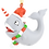 Thumbnail: Cute Candy Cane Narwhal Animal Christmas Ornament