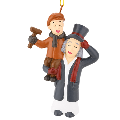 Scrooge & Tiny Tim from A Christmas Carol Ornament