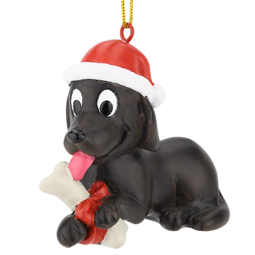 Puppy's First Christmas Christmas Ornament - Black Lab