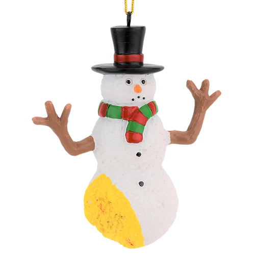 Funny Pee on Snowman Christmas Ornament