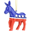 Thumbnail: USA Presidential / Political Christmas Ornament  (Democratic Party)