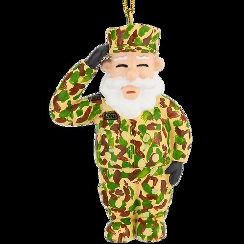 Saluting Santa Military Christmas Ornaments